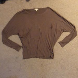 STAINED brown long sleeve top